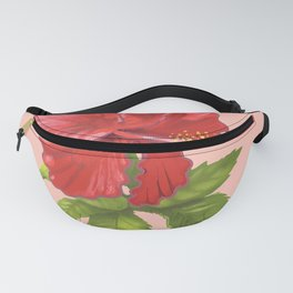 Pink Hibiscus Flower Fanny Pack