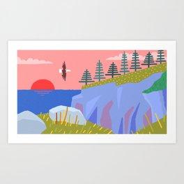 Bald Eagle Prince's Cove Eastport, Maine Art Print