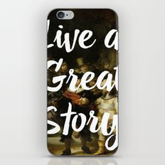 LIVE A GREAT STORY iPhone & iPod Skin