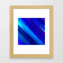 Abstract watercolor colorful lines painting Framed Art Print