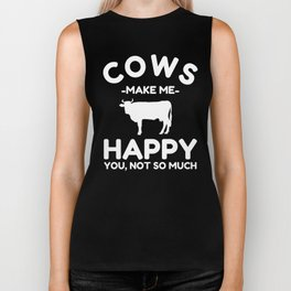 Cow Gifts for Cow Lovers Gift Biker Tank