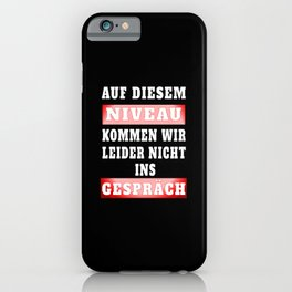 Funny level saying Virus Witty humor iPhone Case