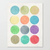 dots Canvas Prints featuring dots by Mareike Böhmer