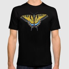 Swallowtail Butterfly MEDIUM Mens Fitted Tee Black