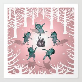 Little Monster Mashers Art Print