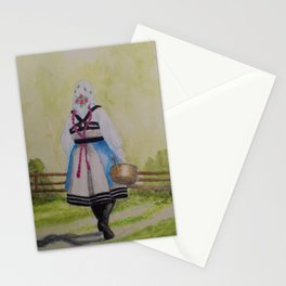 The Milkmaid from Setesdal Stationery Cards