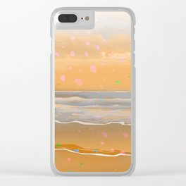 Peach Beach Memories Clear iPhone Case