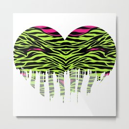 Stripes heart one Metal Print