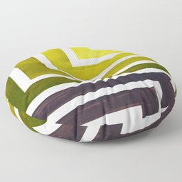 Olive Green Mid Century Modern Watercolor Colorful Ancient Aztec Art Pattern Minimalist Geometric Pa Floor Pillow