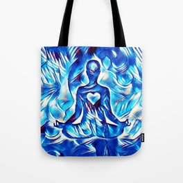 Meditation with Love and Light Tote Bag