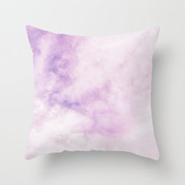 Fuchsia Cloud // Colorful Sunset Pink and Purple Fluffy Ocean Sky Photography Beach Vibes Throw Pillow