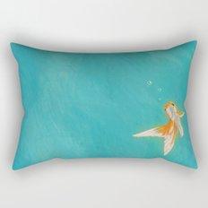 Goldfish in the ocean Rectangular Pillow