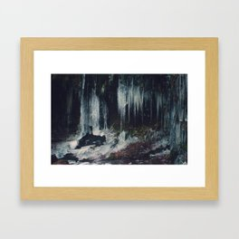 Ice Spikes Framed Art Print