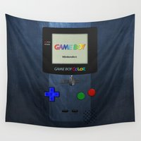gameboy Wall Tapestries featuring GAMEBOY COLOR by Smart Friend