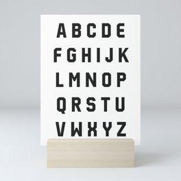 Typography Alphabet #2 Mini Art Print