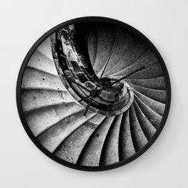 Sand stone spiral staircase Wall Clock