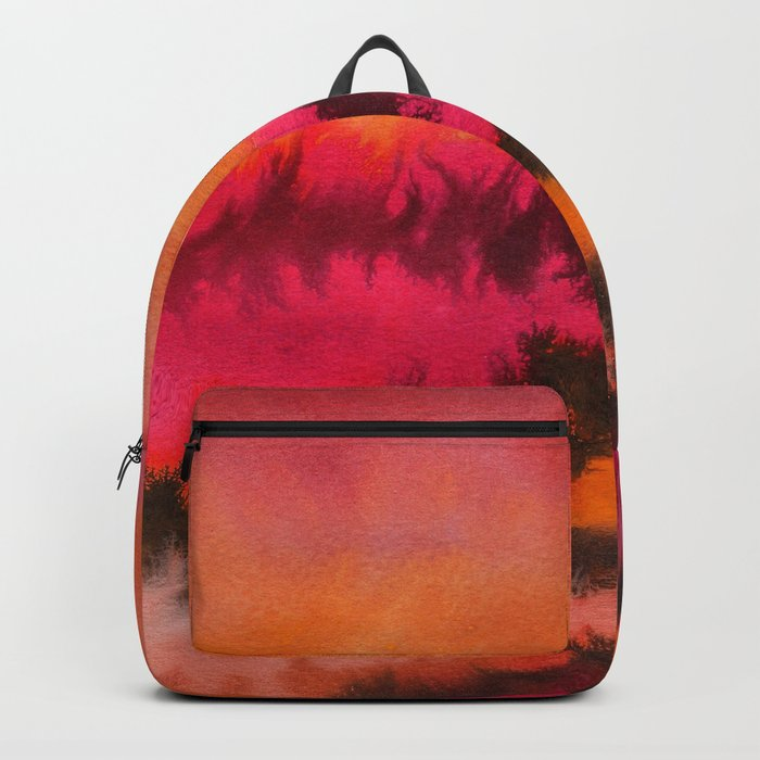 Watercolor abstract landscape 26 Backpack