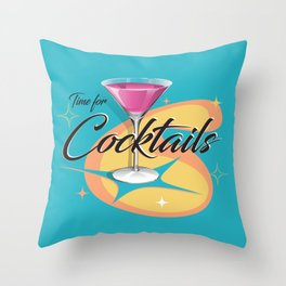 Time for Cocktails Throw Pillow