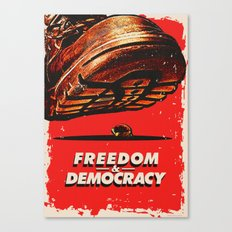 Freedom and Democracy Canvas Print