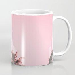 Tropical palm trees on beige pink Coffee Mug