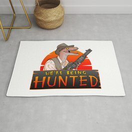 We're Being Hunted Rug