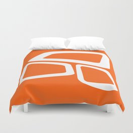 Mid Century In Burnt Orange Duvet Cover