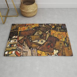 CRESCENT OF HOUSES (THE SMALL CITY) - EGON SCHIELE  Rug