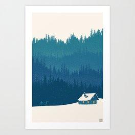 nordic ski scenic wonderland  Art Print