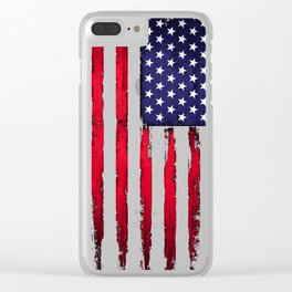 Vintage American flag Clear iPhone Case