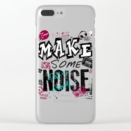 Make some Noise Clear iPhone Case