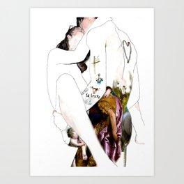 Venetian kiss Art Print
