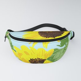 Pair of Sunflowers Fanny Pack