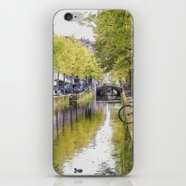 Amsterdam channels watercolour iPhone Skin
