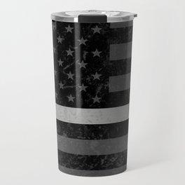 Thin Silver Line Flag Travel Mug