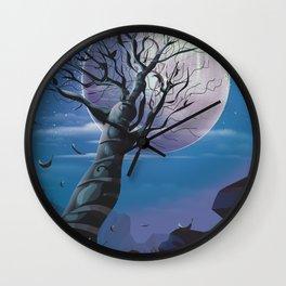 Moon Tree Wall Clock