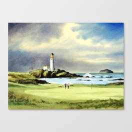 Turnberry Golf Course 10th Green Canvas Print
