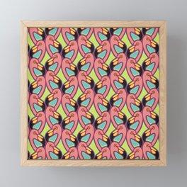 Flamigo fun Framed Mini Art Print