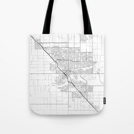 Minimal City Maps - Map Of Modesto, California, United States Tote Bag