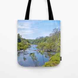 Beautiful tranquil river in the tropics Tote Bag