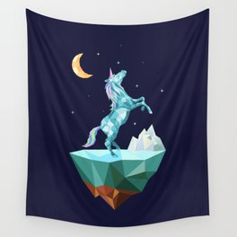 unicorn in the universe Wall Tapestry