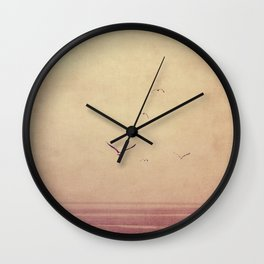 sea teal Wall Clock