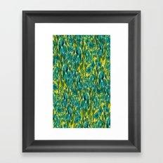 Ikat Floral Framed Art Print