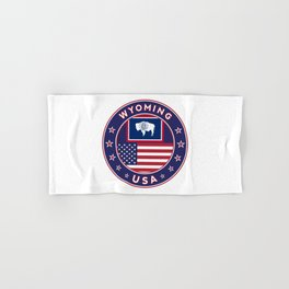 Wyoming, USA States, Wyoming t-shirt, Wyoming sticker, circle Hand & Bath Towel