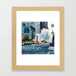 New York: Steam Stack Framed Art Print