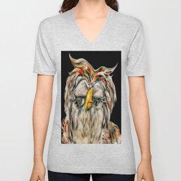 Flirtatious Owl Unisex V-Neck