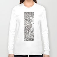 rare Long Sleeve T-shirts featuring Rare Bird by Shanna Duncan