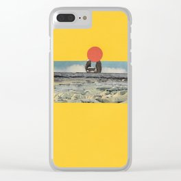 Orange Dot View Clear iPhone Case