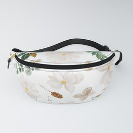 Magnolia Watercolor Floral Pattern Fanny Pack