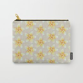 Yellow Flower, Floral Pattern, Yellow Blossom Carry-All Pouch