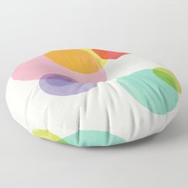Rainbow Bubbles Floor Pillow